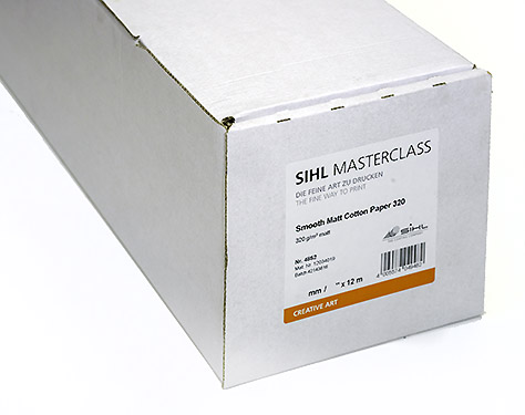 "17"" x 12m SIHL MASTERCLASS Smooth Matt Cotton Paper 320 (4852)"