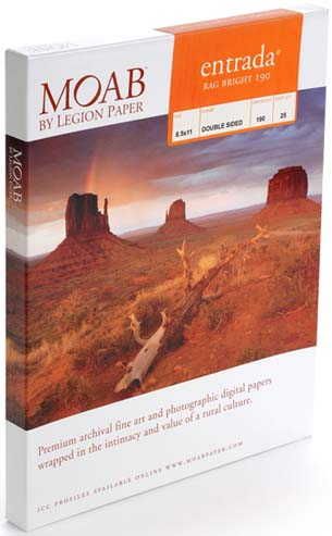 "13"" x 19"" (A3+) Moab Entrada Bright 190 (25 Sheet Pack)"