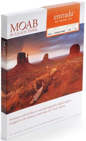 Moab Entrada, 300 gsm,  Bright,  A2 (594x420mm) (25 Sheets)