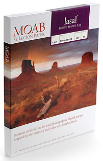 7x10 scored Cards Moab Lasal Photo Matte 235gsm (True Archival, pH Neutral) - (50 cards / box)