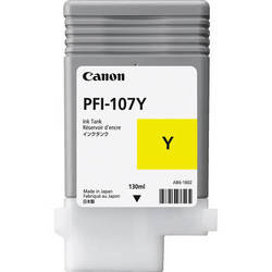 Canon Inkjet Cartridge for iPF 670/680/685/770/780/785 130ml - Yellow (PFI-107Y)