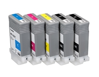 Canon Inkjet Cartridge for iPF 670/680/685/770/780/785 130ml - Full Set (PFI-107BK, PFI-107C, PFI-107M, PFI-107Y, PFI-107MBK)