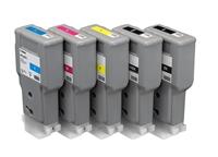 Canon Inkjet Cartridge for iPF 680/685/780/785 300ml - Full Set (PFI-207BK, PFI-207C, PFI-207M, PFI-207Y, PFI-207MBK)
