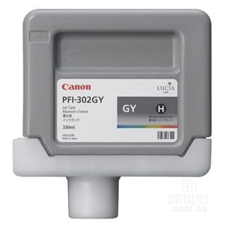 Canon Lucia pigment ink for IPF8100/9100 330ml - Gray (PFI-302GY)