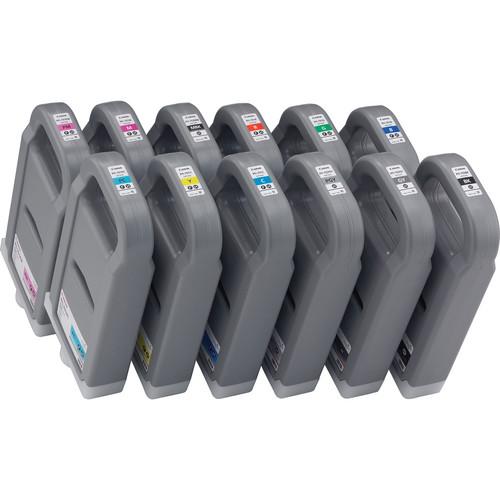 Canon Lucia pigment ink for IPF8100/9100 700ml - Full Set of 12 inks (PFI-701C, PFI-701M, PFI-701Y, PFI-701PC, PFI-701PM, PFI-701R, PFI-701B, PFI-701G, PFI-702BK, PFI-702MBK, PFI-702GY, PFI-702PGY)