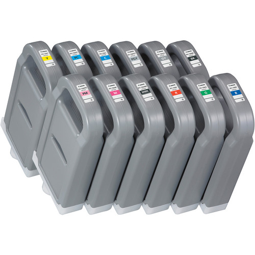 Canon Lucia pigment ink for IPF8300(S)/8400(S)(SE)/9400(S) 700ml - Full Set of 12 inks (PFI-706BK, PFI-706C, PFI-706M, PFI-706Y, PFI-706MBK, PFI-706PC, PFI-706PM, PFI-706R, PFI-706B, PFI-706G, PFI-706GY, PFI-706PGY)