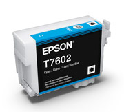 Cyan ink cartridge for Epson SURECOLOR SC-P600, UltraChrome HD Ink, Epson C13T760200