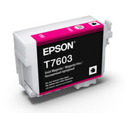 Vivid Magenta ink cartridge for Epson SURECOLOR SC-P600, UltraChrome HD Ink, Epson C13T760300