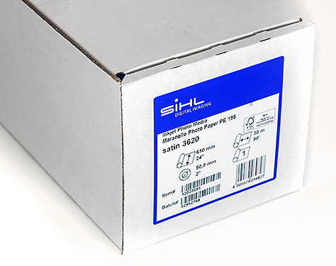 "44"" x 30m Sihl Maranello Photo Paper PE 195 (3620), Satin"