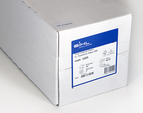 """44"""" x 30m Sihl TrueColor Paper 250  (3285), Matt, Super Smooth, Bright White for Photographic Reproduction"""