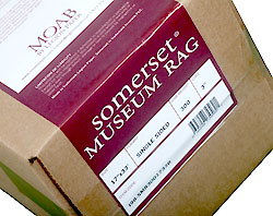 """17"""" x 50' Somerset Museum Rag 300gsm, smooth surface, 100% mould made cotton roll"""
