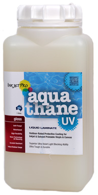 Gloss 1.0L, InkjetPro Aquathane-UV, Tough, Durable Liquid Laminate