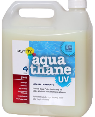 Gloss 4.0L, InkjetPro Aquathane-UV, Tough, Durable Liquid Laminate