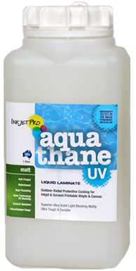 Matt 1.0L, InkjetPro Aquathane-UV, Tough, Durable Liquid Laminate