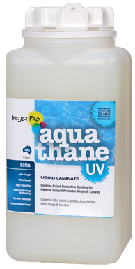 Satin 1.0L, InkjetPro Aquathane-UV, Tough, Durable Liquid Laminate