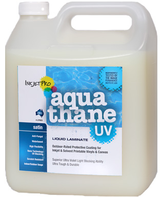 Satin 4.0L, InkjetPro Aquathane-UV, Tough, Durable Liquid Laminate