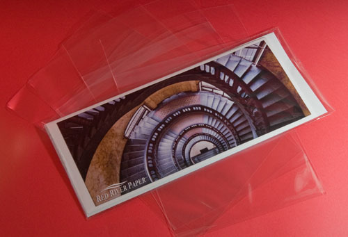 """Red River Paper Clear Card / Envelope Bag Pano Size (4 5/16"""" x 9 3/4"""") 25 Pack #4303"""