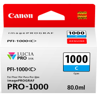 Canon LUCIA PRO pigment ink for iPFPRO-1000 80ml Cyan (PFI-1000C)
