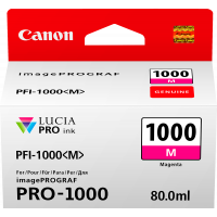 Canon LUCIA PRO pigment ink for iPFPRO-1000 80ml Magenta (PFI-1000M)