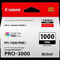 Canon LUCIA PRO pigment ink for iPFPRO-1000 80ml Photo Black (PFI-1000PBK)