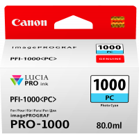 Canon LUCIA PRO pigment ink for iPFPRO-1000 80ml Photo Cyan (PFI-1000PC)