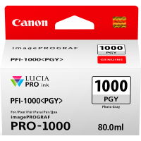 Canon LUCIA PRO pigment ink for iPFPRO-1000 80ml Photo Grey  (PFI-1000PGY)