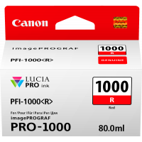 Canon LUCIA PRO pigment ink for iPFPRO-1000 80ml Red (PFI-1000R)
