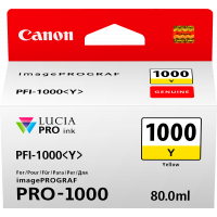 Canon LUCIA PRO pigment ink for iPFPRO-1000 80ml Yellow  (PFI-1000Y)