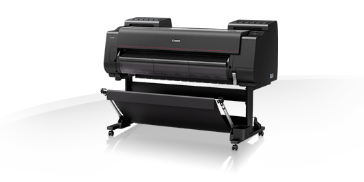 """Canon imagePROGRAF PRO-4000 44"""" 12 Colour Graphic Arts Printer with 320GB HDD & Stand Includes: Drivers; Utilities and Software; RH2-45 Roll Holder; set of 160ml starter ink; print head; maintenance cartridge; network interface; 24 month defect warranty"""