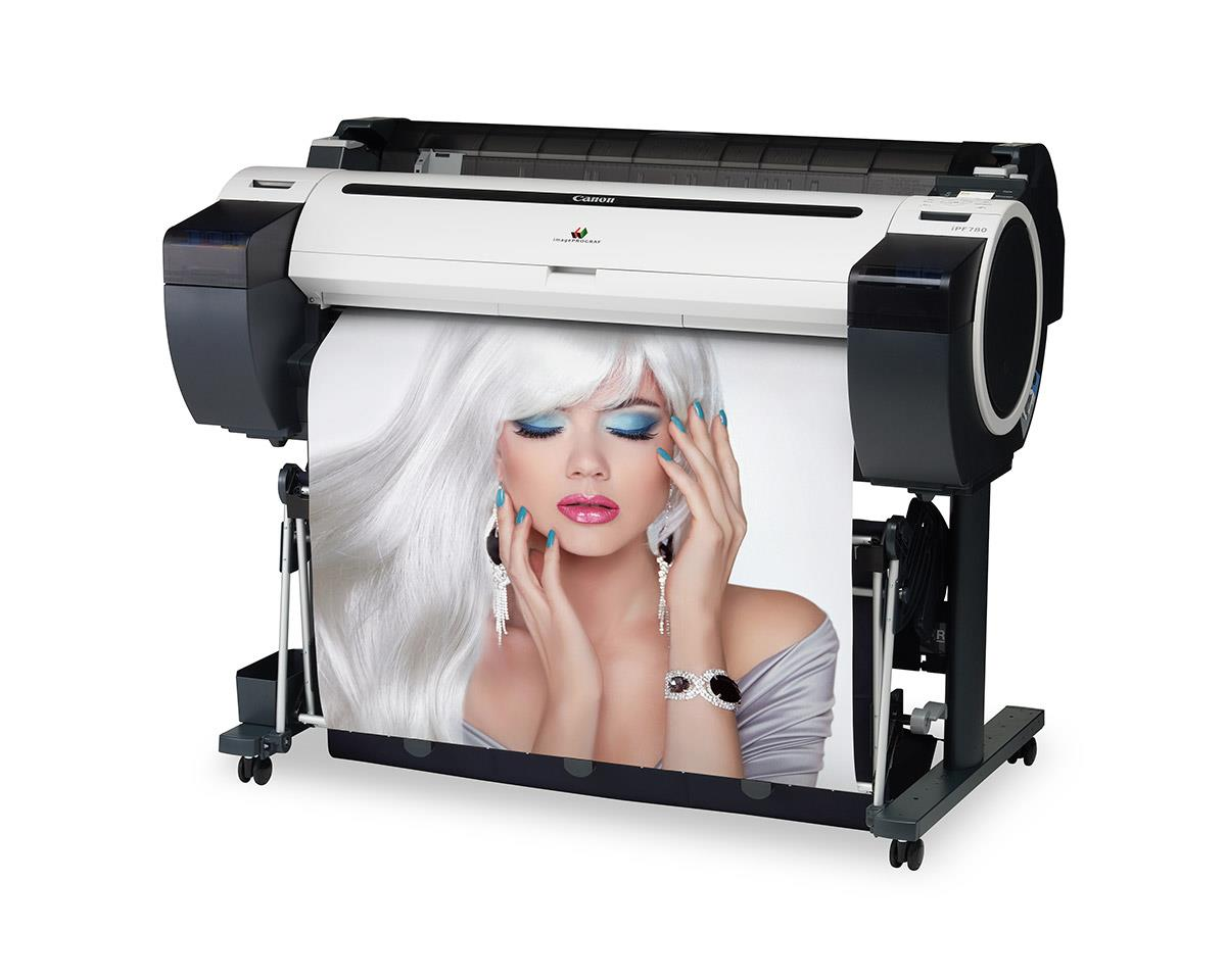 """Canon imagePROGRAF 780 36"""" Colour Technical Large Format Printer, 5 colour (130 / 300ml inks). Incl. stand, basket, RH2-33 Roll Holder;Set of 90ml starter ink (MBK/C/M/Y/BK);High speed (480Mbit/s) USB;24 month defect warranty (inc. print head)"""