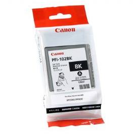 Canon Inkjet Cartridge for iPF 500/510/600/605/610/650/655/700/710/720/750/755/760/765 130ml - Black (PFI-102BK)