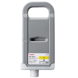 Canon Lucia pigment ink for IPF8000(S)/9000(S)/8100/9100 700ml - Yellow (PFI-701Y)