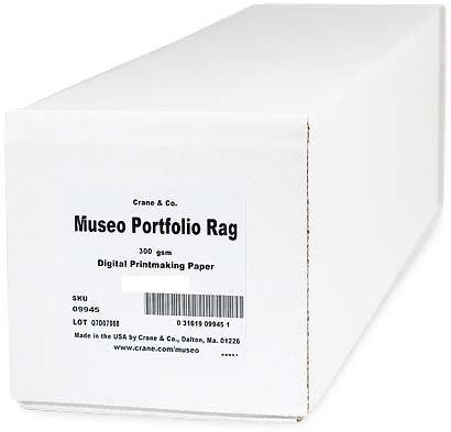 "17"" x 50ft Museo Portfolio Rag 300gsm Roll, 100% cotton, pH-neutral, acid free and brightener free"