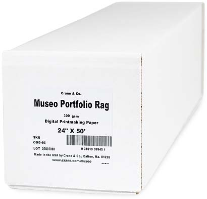 "24"" x 50ft Museo Portfolio Rag 300gsm Roll, 100% cotton, pH-neutral, acid free and brightener free"