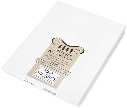 "13"" x 19"" Museo Portfolio Rag 300gsm (25 Sheets), 100% cotton, pH-neutral, acid free and brightener free"